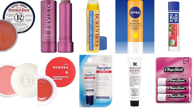 Lip care products for dry lips