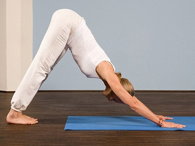 Downward yoga for losing stomach fat